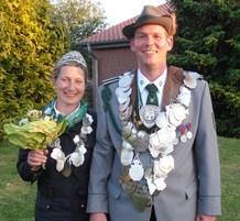 Schützenkönigspaar Christian und Frauke Janson freuen sich sichtlich!